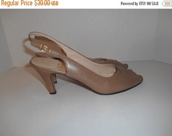 Vintage Salvatore Ferragamo  heels shoes sandals    Women's Shoes Size US 10 AAAA   made in Italy