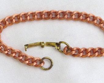 1280 - Vintage Copper Chain Bracelet