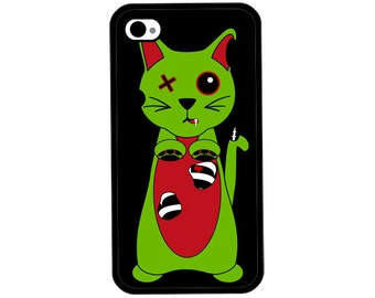 Phone Case - Zombie Kitty Cat - Hard Case for iPhone 4, 4s, 5, 5s, 5c, SE, 6, 6 Plus, 7, 7 Plus - iPod Touch 4, 5/6 - Galaxy