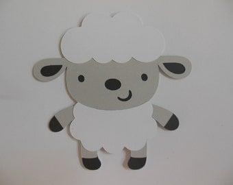 Farm Animal Cutouts - Lamb - Birthday Party Decoration - Baby Shower Decorations - Set of 1