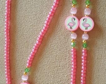 Flamingo Lover Beaded Eyeglass Chain
