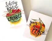 SALE: Notecard Set of 16 Fruit-themed Cards by Artist Lisa Congdon