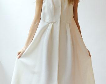 Sample SALE ivory fine wool crepe layering dress jacket