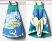 shark week COURTNEYCOURTNEY italian greyhound shark surf surfer dog upcycled jersey knit outfit top green blue tshirt