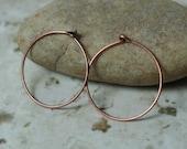 Antique copper round hoop 20mm in diameter 20g thick, 12 pcs (item ID YWYSH2068AC)