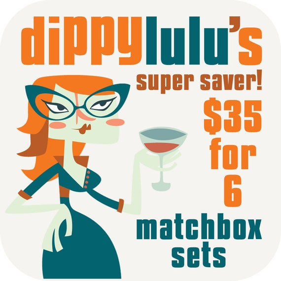 Stocking stuffers, gag gift, literary jokes, silly secret santa, funny and clever office gift -- Matchbox super saver SIX set