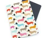 Dachshund Dogs on Cream Passport Cover, Passport Holder, Passport Wallet, Passport Case, Travel Gift