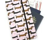 Travel organizer, Travel wallet, passport holder, family travel organizer, passport wallet, travel organizer - Dachshund Love