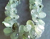 Moss Prehnite Pears Tourmalinated Tourmalated Tourmilated Spring Green Multi Colored Genuine Natural Gemstone Beads mossy