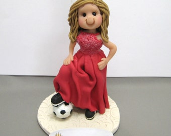 DEPOSIT for a Custom made Single Person polymer clay Cake Topper Figurine