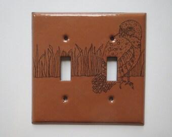 Enamel Owl switch plate