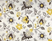 Waverly set in spring sterling fabric set in spring fabric yellow gray fabric
