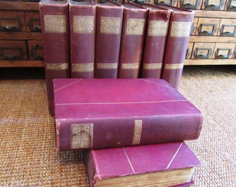 1902 Eight Volumes The World's Orators..Illustrated..England and America...Gilt Top Edge