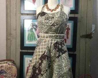 Sale 1970s sundress 70s cotton dress size small Vintage boho dress
