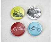 Bike Magnets (Set of 4) 1.25 inch Bicycle Fridge Magnets