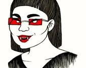 Inktober: Mi-Sook the Vampire