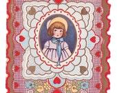 Sweet Vintage Valentine Card  - Unused circa 1920s