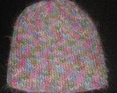 New Handmade Multi Angel Hair Ribbed Knit Hat - Women's Medium