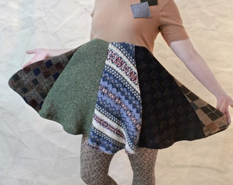 HandCandy upcycled sweater dress browns