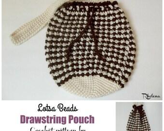 Lotsa Beads Drawstring Pouch ~ Crochet Pattern