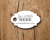 "120 price tags - 1.25"" x 0.75""  - Your Logo and Text - Customized Small Price Tags Jewelry Hang Tags Labels"