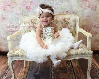 Glass of Champagne Rosette Headband, Baby Headband, Girls Headband, Photography Prop