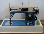 Morse 4300 Sewing Machine - Vintage Restored Classic Blue Fotomatic - free shipping