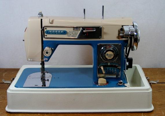 Morse 4300 Sewing Machine Vintage Restored Classic Blue
