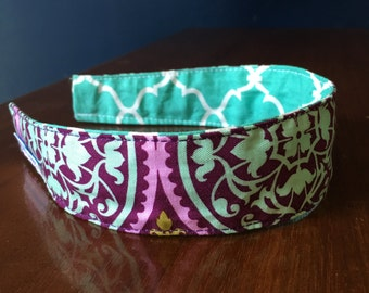 Comfortable Headband-- Washable, Reversible-- Joel Dewberry's Aviary Fabric