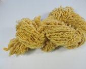 Handspun Art Yarn Coils Merino Kid Mohair Saori Freeform Honey Mustard Gold 16-8-14