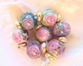 17 Handmade Lampwork Beads