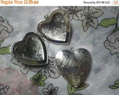 Silver Plated Elegant Floral Embossed Steel Heart Lockets 43x40mm 4
