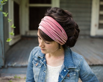ROSE Stretch Velvet Garlands of Grace Headcovering head hair headband Headwrap