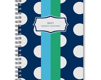 2017 Polka Dot Weekly Planner