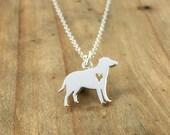 Labrador dog charm necklace - Sterling silver