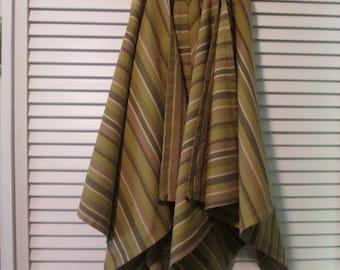 Five Vintage Fall Napkins - Woven Cotton Napkins - Fall Striped Napkins