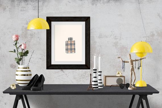 Burberry Brit Perfume Fashion Illustration Art Poster