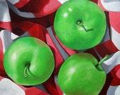 Granny Apples original realistic still life painting