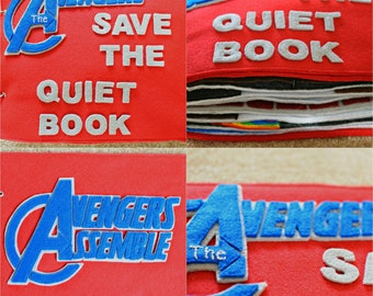 Completed Avengers Quiet Book