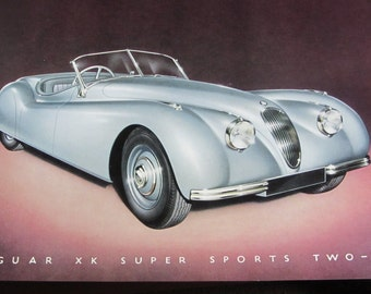 Vintage 1950 JAGUAR CARS LTD. Vintage Dealer Brochure, Photos & Specifications, Luxury Auto, Vintage Car Catalog