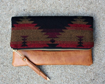 Aztec Navajo Foldover Clutch