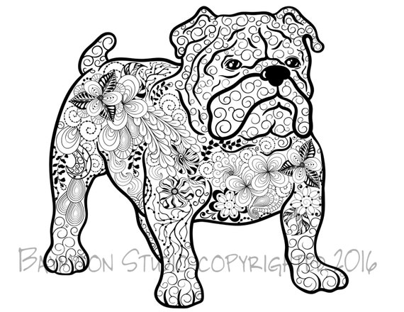 printable and coloring pages bulldog - photo#35