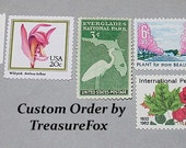 Reserved Custom Order for Adaire .. Unused Vintage US Postage Stamps