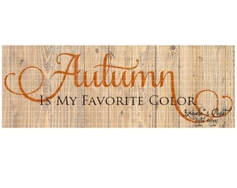 Autumn Colors SVG Vector Printable Cutable