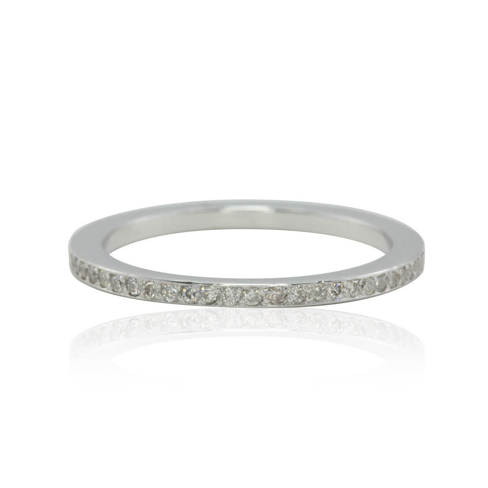eternity ring ultra thin pave wedding band