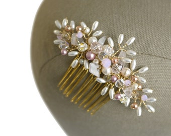 Rose Gold Handmade Hair Comb