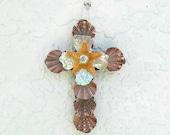 Cross Ornament,Cross with Shells,Starfish Crucifix,Coastal Wall Art Decor, Religious Christian Gift,Christmas Ornament,Priest Minister Gift