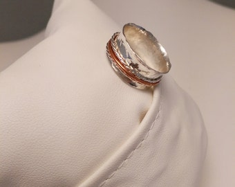 Sterling Silver Spinner Ring (made to order size)