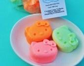 Kids Cat Soaps - Cat Shaped Soaps - Coconut Lime Verbena - Cherry Almond - Dreamsicle - Crazy Cat Lady - Cat Party Favors