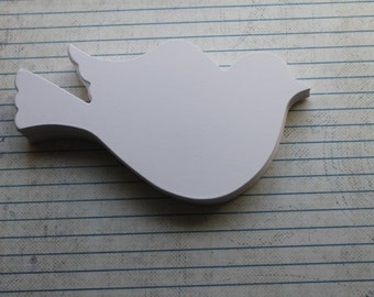 25 small flying birds white 110 lb weight cardstock diecuts for weddings and more 3 inch x 1 5/8 inches